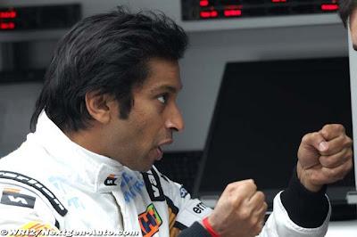 Нараин Картикеян с кулаками на Гран-при Китая 2012