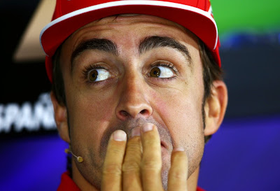 Фернандо Алонсо на пресс-конференции в четверг на Гран-при Испании 2014