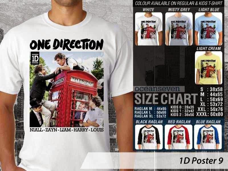 Jual kaos 1D One Direction 9 Musik Boy Band