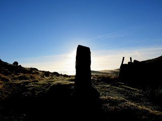 Post On Path Between The Roaches And Hen Cloud