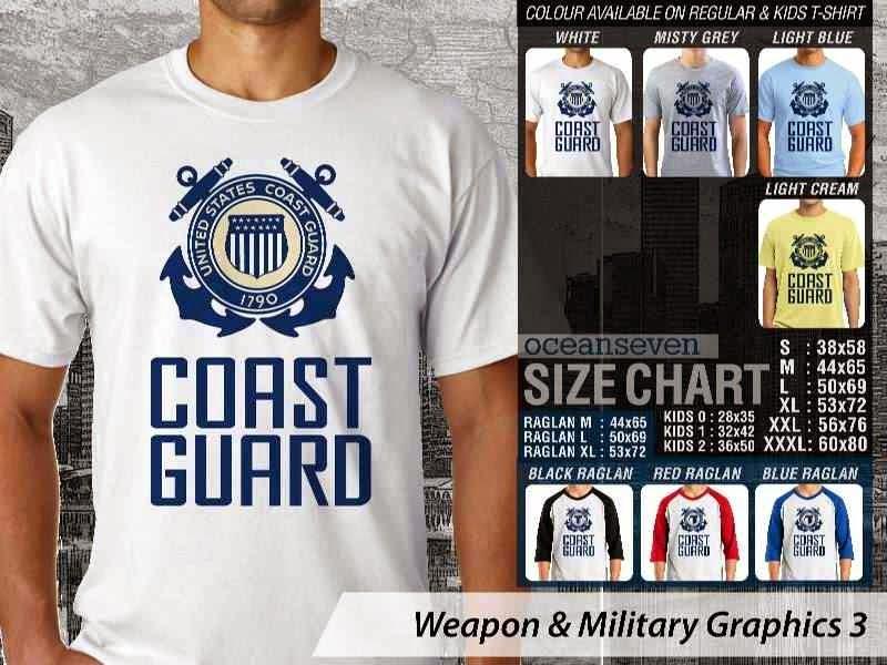 KAOS Militer Coast Guard Weapon & Military Graphics 3 distro ocean seven