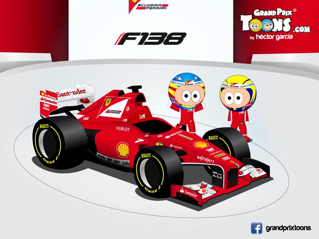 Фернандо Алонсо Фелипе Масса Ferrari F138 Grand Prix Toons 2013