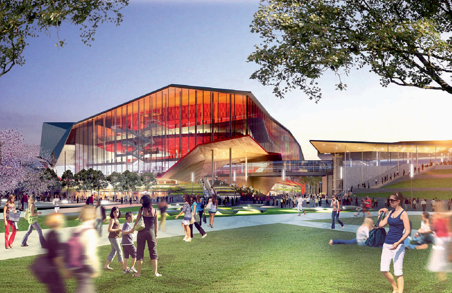 Sydney Nuovo Galles del Sud, Australia: [NEW CONVENTION, EXHIBITION AND ENTERTAINMENT PRECINCT BY HASSELL + POPULOUS]