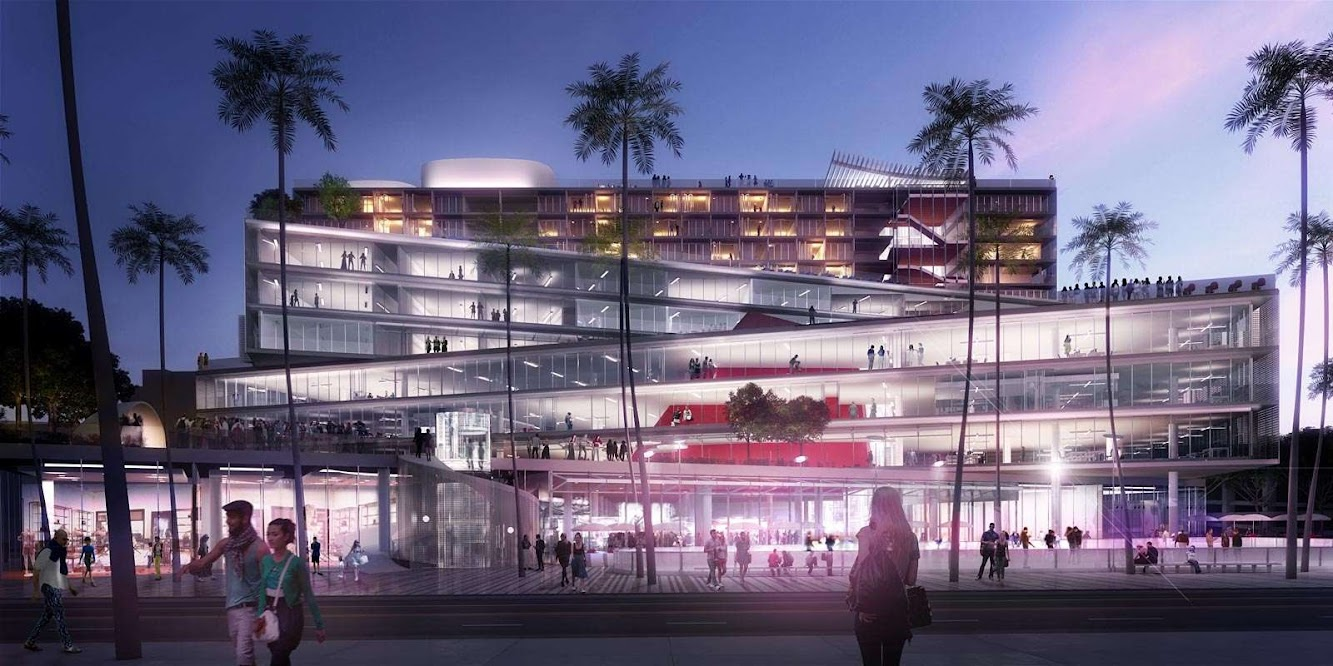 Perpignano, Francia: Oma Wins the Plaza At Santa Monica Competition