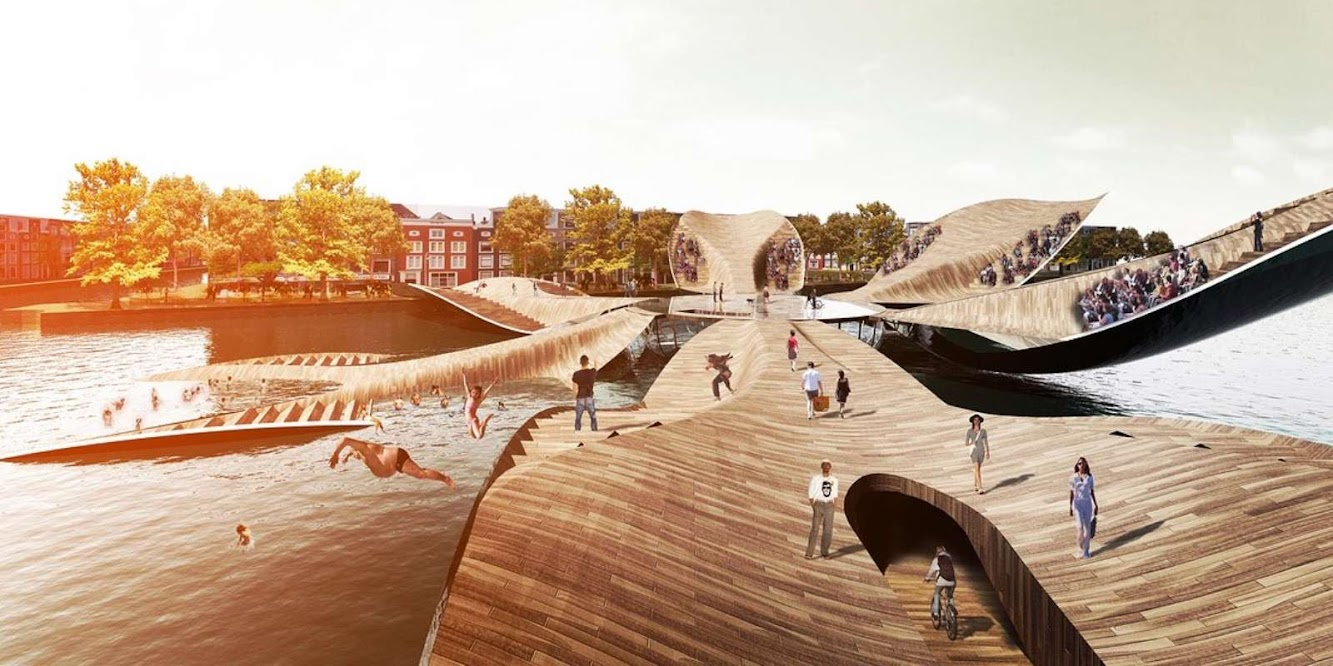 The Tulip Pedestrian Bridge by Mlbs Architects