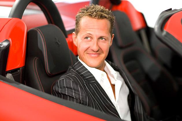 фотосессия Михаэля Шумахера в машине Ferrari