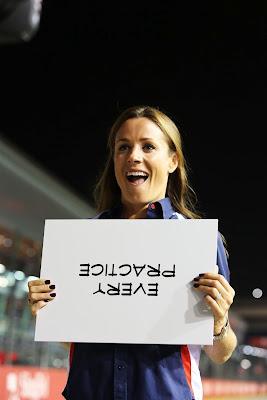 Натали Пинкхэм Every Practice на Гран-при Сингапура 2012
