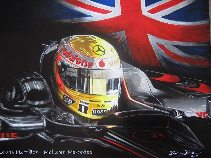 картина Льюис Хэмилтон McLaren Mercedes 2011 by Giuliana Vaudano