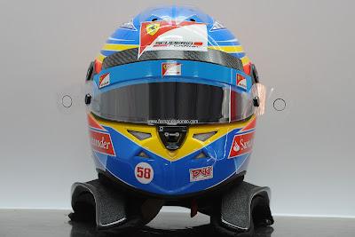 шлем Фернандо Алонсо на Гран-при Индии 2011