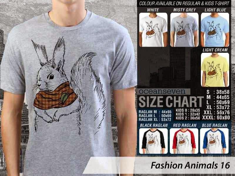 Kaos Fashion Animals 16 Binatang Kelinci Rabbit distro ocean seven