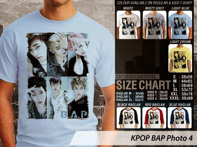 Kaos Bap 4 Photo K Pop Korea distro ocean seven