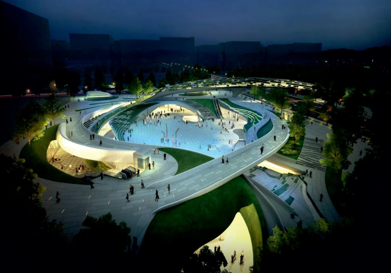 Seul, Corea del Sud: Wooridongin Architects Wins Magok Central Squares Competition