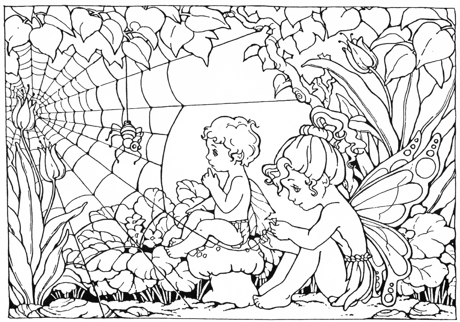 free fairy coloring pages for adults - Coloring Pages Collection Fairy Coloring Pages