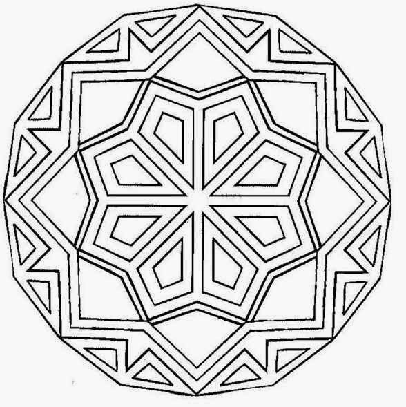 printable design coloring pages - Rangoli Colouring Pages Activity Village