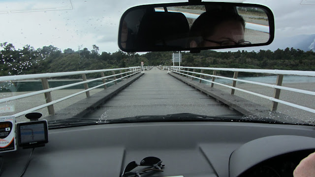 The Haast Bridge is one of the country's many one-lane bridges. At 737m it is also its longest.