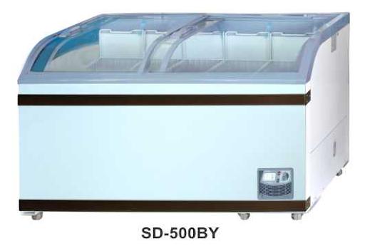 Sliding Curve Glass Freezer SD-500BY