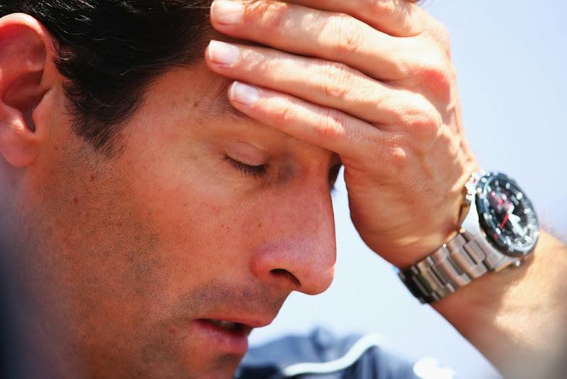 Марк Уэббер - фэйспалм с часами на Гран-при Бразилии 2013