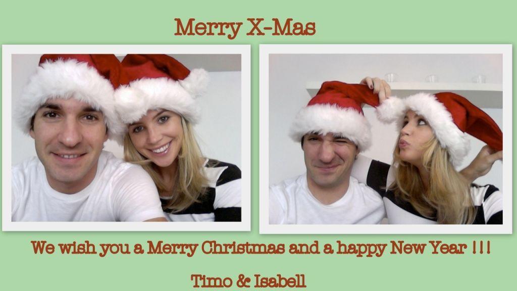 поздравления Тимо Глока и его герлфренд Изабель Дорин с Рождеством и наступающем Новым годом
