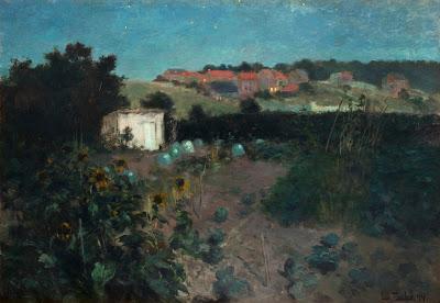Frits Thaulow - Evening Landscape at Pas de Calais