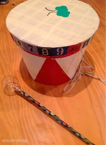DIY drum toy. Tambor para niños