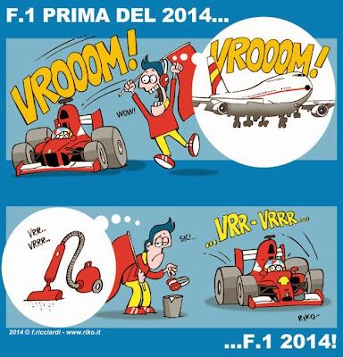 сравнение звука двигателей - комикс Riko по Гран-при Австралии 2014