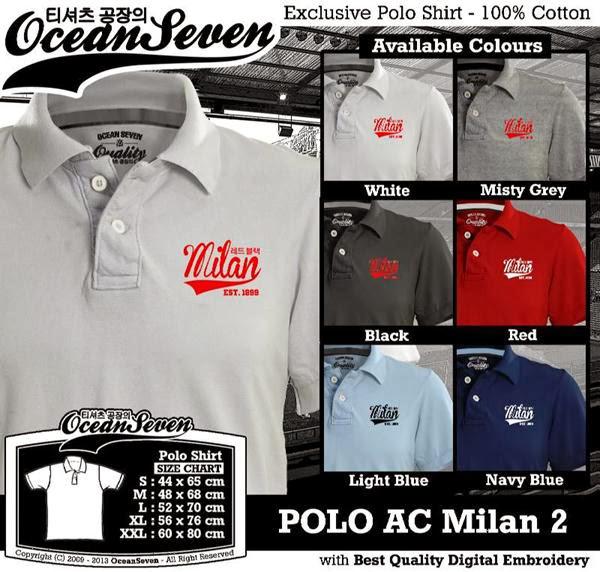 POLO AC Milan 2 Liga Italia distro ocean seven
