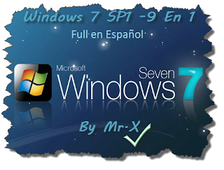 Windows 7 SP1 Rev.2 (Media Refresh) (9 En 1) (Preactivado Esp) (UL)