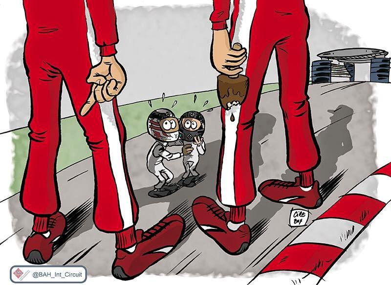 Себастьян Феттель и Кими Райкконен угрожают лидирующим позициям Mercedes - комикс Cirebox по Гран-при Китая 2015