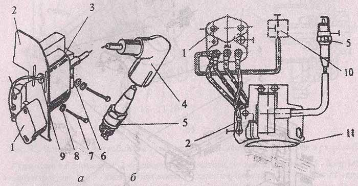 Схема зажигания мотоблока
