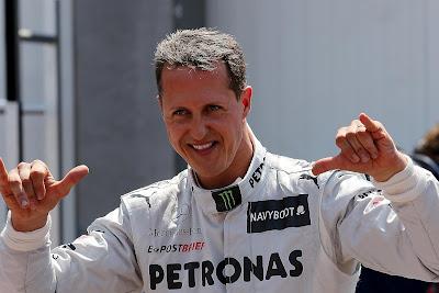 Михаэль Шумахер после квалификации на Гран-при Монако 2012