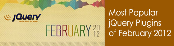 Most Popular jQuery Plugins of February 2012