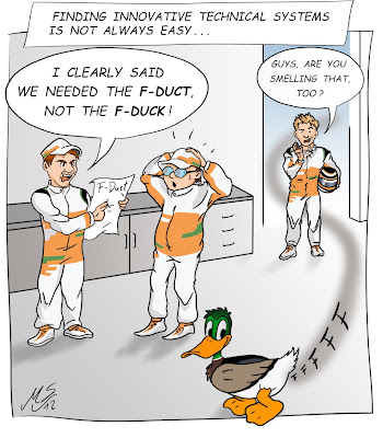 Нико Хюлькенберг и механики Force India комикс из твиттера гонщика