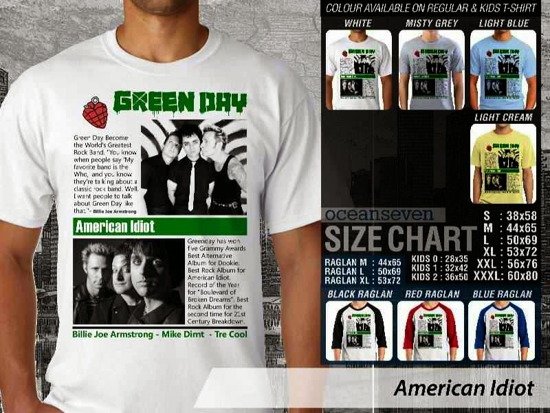 KAOS American Idiot Green Day 11 Rock Band Legends distro ocean seven