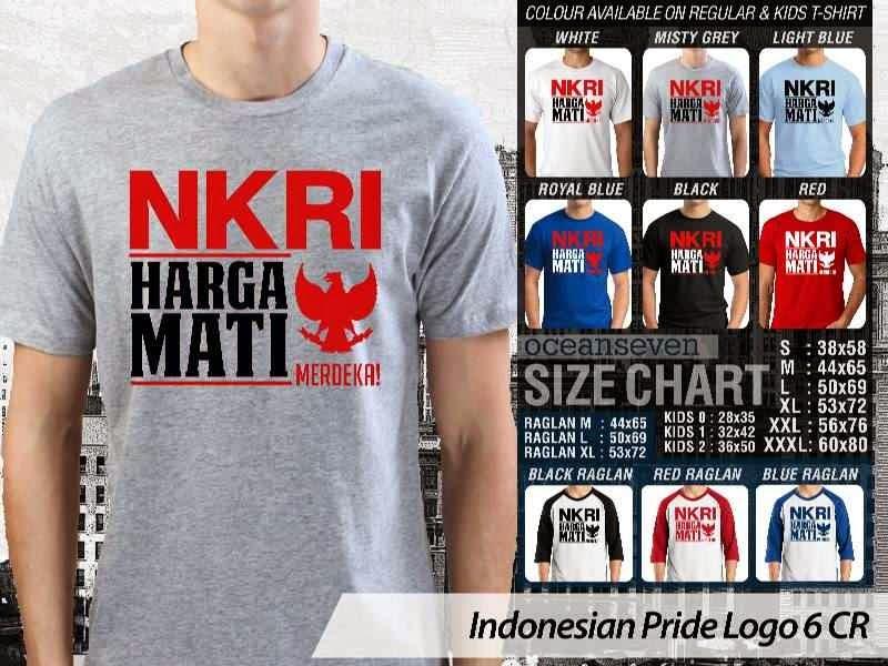 KAOS NKRI Harga Mati Indonesian Pride Logo 6 distro ocean seven