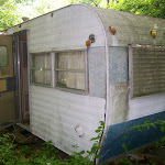 I found an old trailer in the woods