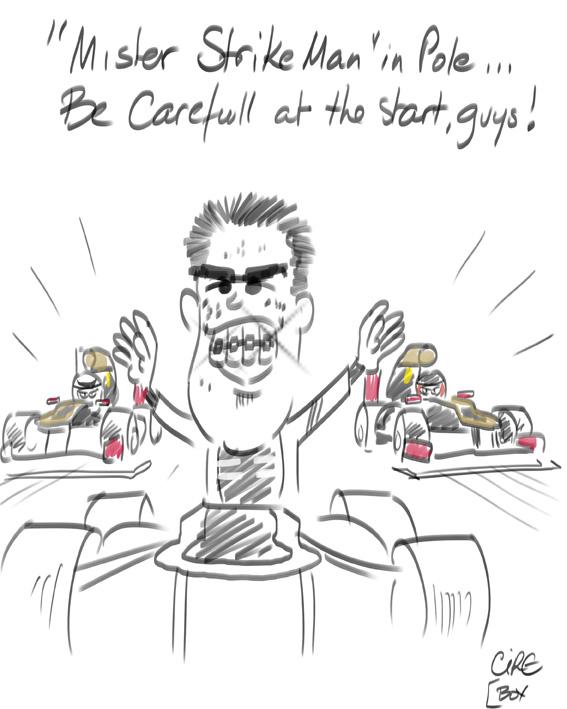 Пастор Мальдонадона поуле - комикс Cirebox по Гран-при Испании 2012