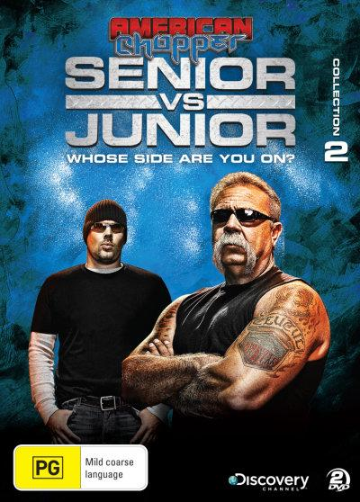 Ameryka?ski chopper Ojciec kontra syn / American Chopper Senior vs Junior (Season 2) (2011) PL.TVRip.XviD / Lektor PL