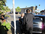 Grace Zabriskie arrives - when she was standing there, I waved like a fool. So dumb.