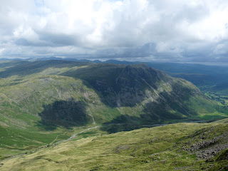 The Langdale Pikes from The Climbers Traverse - Bowfell