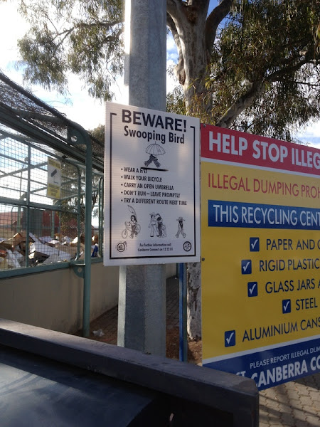 Magpie Sign Tuggeranong Recycling Facility ACT