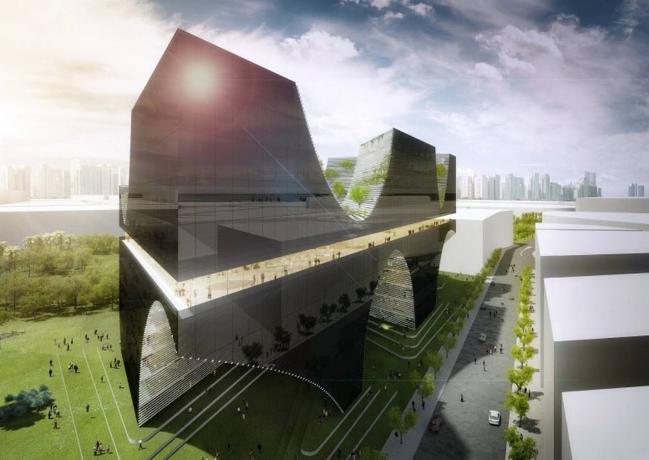Taichung City Cultural Center Entry by AllesWirdGut Architektur