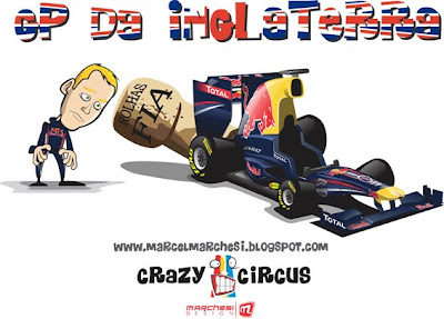 FIA затыкает выхлоп на Red Bull на Гран-при Великобритании 2011 Crazy Circus Marchesi Design