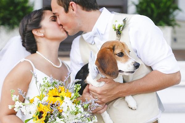 rustic virginia wedding with beagle