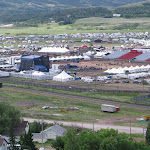 I biked up the hill above the festival today...craven, canada