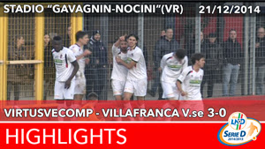 VirtusVecomp - Villafranca V.se - Highlights del 21-12-2014