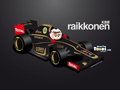 Кими Райкконен Lotus E20 2012 Grand Prix Toons