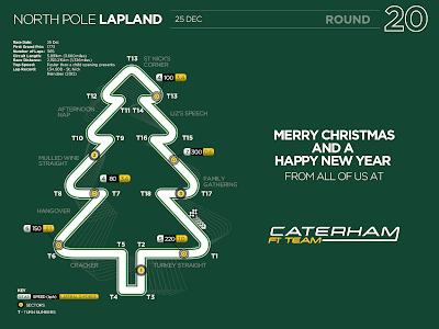 Рождественская открытка от Caterham