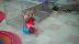 A sad, performing monkey on break.