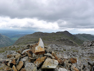 Esk Pike Summit - Looking to Bowfell