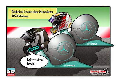 Технические проблемы замедляют Mercedes - комикс SpeedyHedz по Гран-при Канады 2014